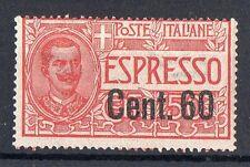 1922 REGNO ESPRESSO 60 CENTESIMI SU 50 LINGUELLATO MLH D/518