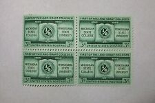 $0.03 Cents First of the Land-Grant Colleges Stamps Block of 4