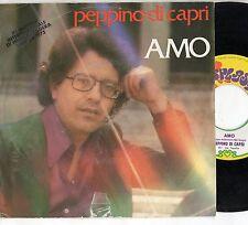 PEPPINO DI CAPRI raro  disco 45 giri MADE in ITALY  Amo + Il giocatore