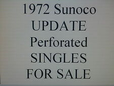 1972 SUNOCO UPDATE Stamp SINGLES for sale $9.99 each SCARCE!! Perforated!
