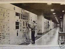 RPPC WA GRAND COULEE DAM, TURBINE & GENERATOR CONTROL BOARDS REAL PHOTO POSTCARD