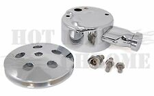 Power Steering Pump Cover GM First Generation With Key Way Pulley Chrome Plated