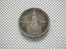 El tercer reich 5 rico mark 1934 e Garnisonkirche con fecha de plata