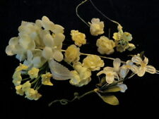 "Vintage Millinery Flower Collection 1/4 -1"" Yellow Shabby Doll Size H2153"