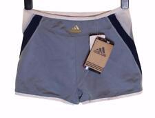 Bnwt Girl's Adidas Evol Stretch Sports Shorts Hot Pants Silver Grey Age 16 New