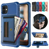 Fr iPhone 12 Pro Max 11 Xs 8 7 6 Plus Leather Card Slots Wallet Case Stand Cover