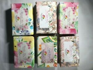 Gift Box with 6 natural soap bars individually wrapped