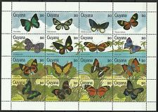 Guyana Guyane Papillons Butterflies Schmetterlinge Insectes ** 1990 16 Valeurs