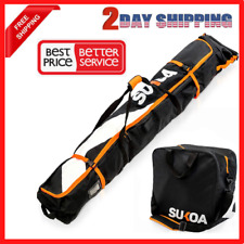 Ski Bag and Ski Boot Bag Combo for Air Travel Unpadded - Ski Luggage Bags