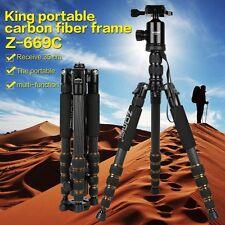 Z669C Professional Carbon Fiber Tripod Monopod&Ball Head Travel for DSLR Camera