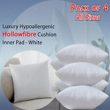 Pack of 4 Cushions Filled All Sizes Cushion Pads Inserts Inners Fillers Scatters