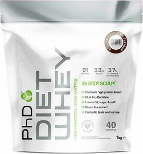 PhD Nutrition Diet Whey 1kg or 2kg  whey protein meal replacement diet shake