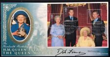 Benham 4.8.2000 Queen Mother M/S FDC, Castle Of Mey, Signed DICK FRANCIS, Author