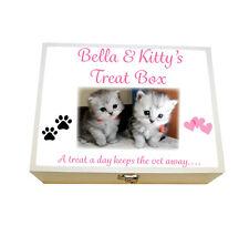 Large Personalised Keepsake box,Cat Treat Box, Kitten snacks