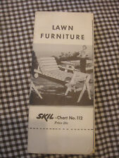 Lawn Furniture- Skil-Chart #112 1952 brochure retro vintage 2 sided