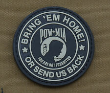 "PVC / Rubber Patch ""Bring 'em Home - POW MIA"" with VELCRO® brand hook"