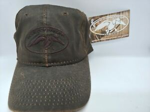 Duck Commander (Dynasty) Brown Waxed Distressed Ball Cap