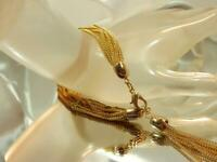 Vintage 1960's Mellow Gold Tone Multi Strand Tassel Dangle FAB Bracelet 688jl9