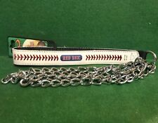 MLB ⚾️ Red Sox Baseball Leather Strap Chain Leash Dog/Cat🐾 Large