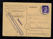 1945 Sangerhausen Germany Concentration Camp Postcard Cover Dora and Reply