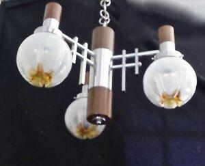 Rare  Sciolari Mazzega Murano geometric chandelier 1960  design
