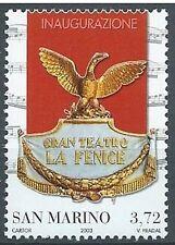 San Marino 2003 singolo Teatro La Fenice da foglietto  Mnh