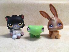 LIttlest Pet Shop LPS #433 Turtle #434 Rabbit #435 Persian Cat Preowned