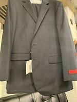 New 48R Men's Dark Grey Suit 100% Wool Super 150 Made in Italy Retail $1295