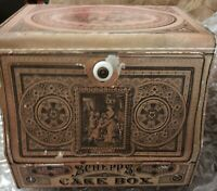 Somers Bros NY 1879 Antique Victorian Store Spice Tin Cake/Bread Box