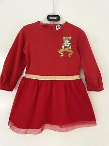 AUTHENTIC MOSCHINO BABY RED BEAR TUTU DRESS 9-12 MONTHS EU 74!