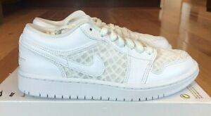 Nike Women's Air Jordan 1 Low Breathe White DC9508 100 Size 10