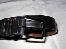 NWT Torino Black Venetian Calf Leather Belt Brass buckle Mens 32 Made In USA