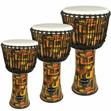 More details for djmebe drum by world rhythm -  synthetic, orange, african style
