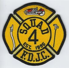 **JERSEY CITY NEW JERSEY FIRE DEPARTMENT SQUAD 4 FIRE RESCUE PATCH**Yellow