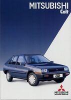 Mitsubishi Colt Prospekt 1984 4/84 Autoprospekt brochure broschyr prospectus PKW