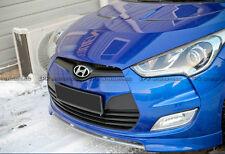 REV Front Bumper Front Grill Cover Non Turbo For HYUNDAI Veloster Carbon Fiber
