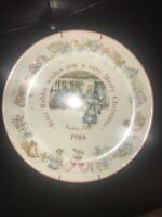 Wedgwood Beatrix Potter Peter Rabbit 1984 Christmas Plate Vintage Holiday