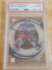 2005 Upper Deck Ice Henrik Lundqvist RC /1999 PSA 10 #137