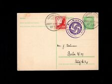 Germany Sea Post 1935 Kraft Durch Freude SS Oceana To Azores Uprated Card 4k
