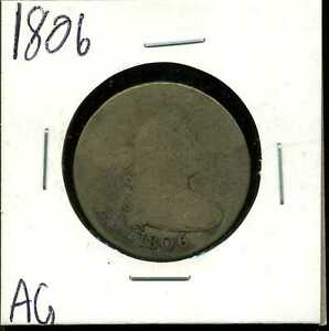 1806 25C Draped Bust Quarter Dollar in AG Condition #00323