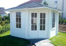 5-Eck Gartenhaus Blockhaus ohne Fußboden 3x3M aus Holz 40mm Leonie EB40022oFL