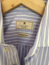Hackett men's Lilac and white striped slim fit shirt. 14.5 collar.
