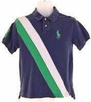 POLO RALPH LAUREN Boys Polo Shirt 12-13 Years Medium Blue Cotton  JS14