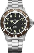 Glycine GL0171 Men's Combat Sub 42 Automatic 42mm Black Dial Brown Bezel Watch