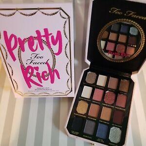 Too Faced Pretty Rich Diamond Light Eye Shadow Palette New In Box