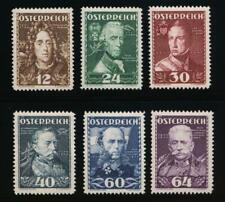 AUSTRIA B132-B137 MINT LH MILITARY LEADERS