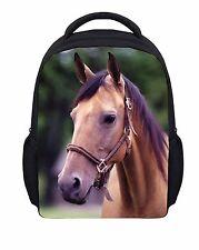 "12"" Horse School Backpacks Kindergarten Bookbag Satchel Girls Mochilas Infantil"