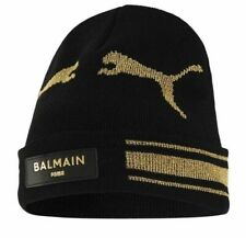 Puma x Balmain Cat Knitted Black Beanie Hat Adults 022664 01