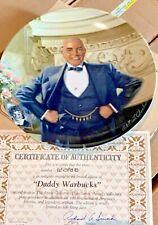 New ListingKnowles Daddy Warbucks Annie Collector's Plate Series Nib w/Coa!