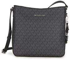 808a0c10b8 BRAND NEW MICHAEL KORS SIGNATURE JET SET LARGE BLACK MESSENGER CROSSBODY BAG